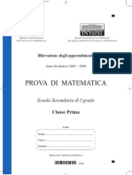 INVALSI 1° media Matematica 2005-06
