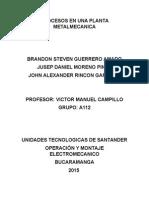 Procesos en Una Planta Metalmecanica