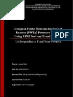 Design & FEA of Reactor Pressure Vessel