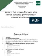 Tema 1. Del Imperio Romano a Los Reinos Bárbaros