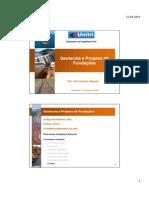 Aula II - Geotecnia e Projetos de Fundações