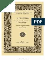 Epicuro, A Cura Di Ettore Bignone-Opere, Frammenti, Testimonianze Sulla Sua Vita-Laterza (1920)