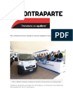 12-11-2015 Contraparte - RMV y Martha Erika Alonso Entregan 36 Vehículos Adaptados a Municipios