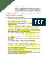 Assignment 3 Questions Concerns