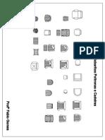 Gabarito Poltronas e Cadeiras em PDF 1:50
