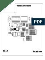 Gabarito Cozinha Industrial em PDF 1:50
