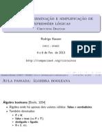 Aula5 Algebra Boole