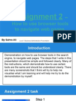 demonstration on how to use browser tools to navigate web pages