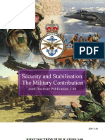 Security and Stabilisation - The Military Contribution