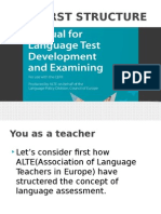 Manual for Language Test Development and Examining