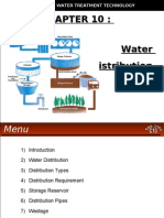 WATER TREATMENT TECHNOLOGY (TAS 3010) LECTURE NOTES 10 - Water Distribution System