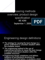 BE 4290 Class 3 Overview Engineering Methods
