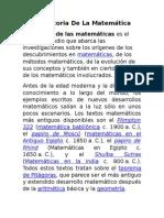 La Historia de La Matemática
