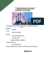 """¨DETERMINACION DE  DUREZA TOTAL Y CALCICA EN AGUA DE RIO"""""""