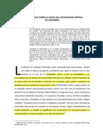 ideas sobre el papel del historiador crítico en Colombia