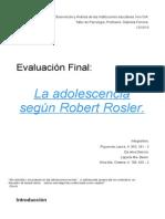 Roberto Rosler y la Adolescencia.