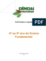 Apostila Ciencias Naturais Do 6º Ao 9º Ano - Ensino Fundamental - Profª Analina V