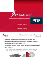 XpressWest Presentation  to NV HSRA 11-18-15