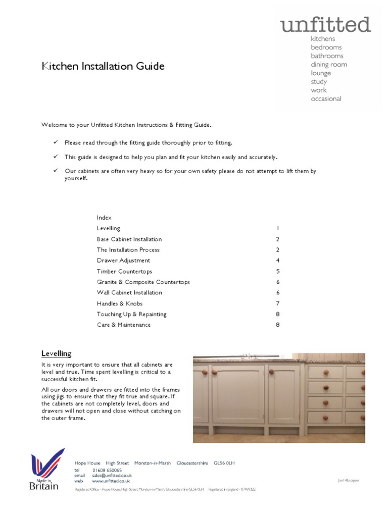Kitchen Installation Guide United | Sink | Cabinetry
