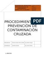 Poes-003-Prevencion de Contaminacion Cruzada