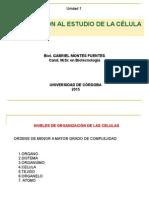 1.2 Introd. Estudio Célula, Teoría Celular, La Célula