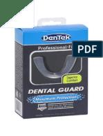 Dentek Dental Guard User Guide