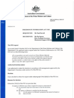 Prime minister personal email server FOI