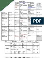 Academic Calendar 99H SP10