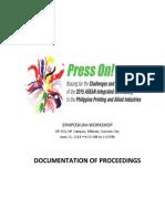 PRESS on Documentation of Proceedings