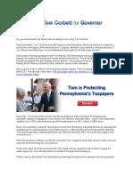 Corbett Fund-Raising E-Mail