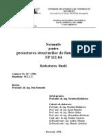 NP 112-04  normativ fundatii