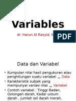 (1) Dr.harun - Variables