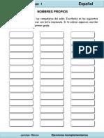 2do Grado - Español - Nombres Propios