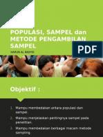 (2) Dr. Harun - POPULASI Dan Sampel
