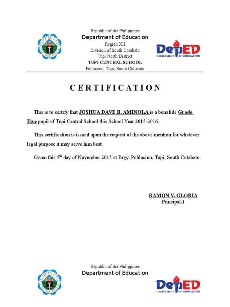 Certification of enrolment sample spiritdancerdesigns Image collections
