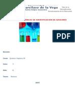 reacciones quimicas de identificacion de azucares