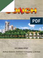 Anhui Conch Cement Company Ltd Annual Report 2013