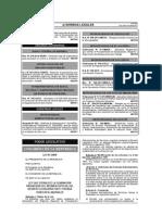 Ley 29849 (Ley Que Establece La Eliminación Progresiva Régimen Especial Del D.L. 10547 y Otorga Der. Lab.)