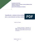 Tognon, Andre Luiz. Quantificação e Avaliação Da Bioacessibilidade in Vitro de Micro e Macroelementos Em Frutas, Hortaliças e Cereais.