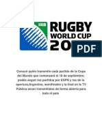 Calendar Rugby Worldcup 15