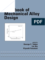 Handbook of Mechanical Alloy Design (Mechanical Engineering (Marcell Dekker))