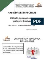 UNIDAD 1. Introducción a Las Habilidades Directivas