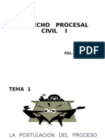 Derecho Procesal Civil III La Etapa Postulatoria Del Proceso