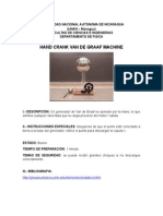 Demostración - Hand Crank Van de Graaf Machine