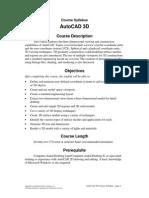 LEVEL3 AutoCAD 3D Syllabus