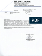 contoh surat Permohonan Meletakan X Banner Di Puncak Swalayan Belitung