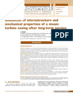 Evaluation of Microstructure and Mechanical Properties of a Steam Turbine Casing After Long-term Service