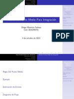 Metodo Del Punto Medio.tex con Diagrama de flujo para Scilab