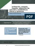 Esterilización, asepsia, antisepsia