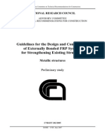 Guidelines for Design and Construction of Externally Bonded FRP Systems for Strengthening Existing Structures – Metallic Structures